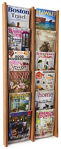 Wood Magazine Rack for Office