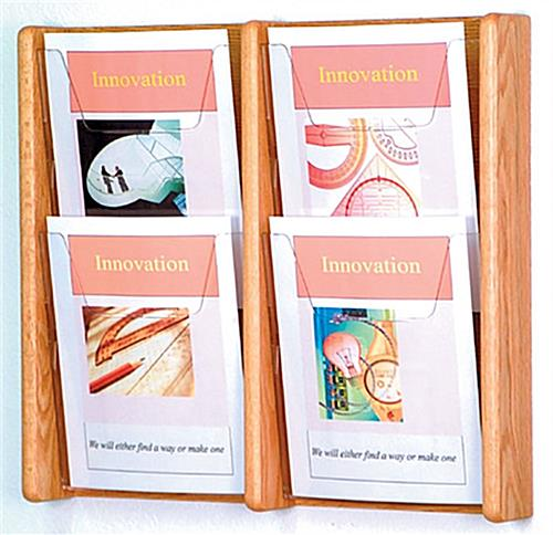 4 pocket magazine rack with acrylic front to clearly display literature
