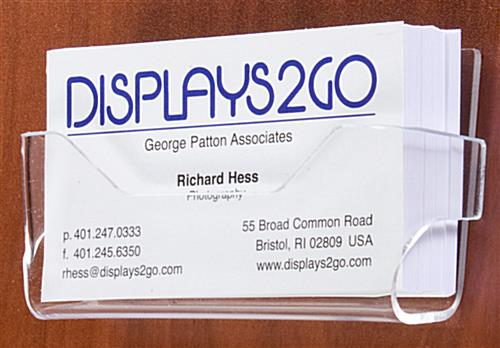 Wall Mount Business Card Holders Clear Acrylic