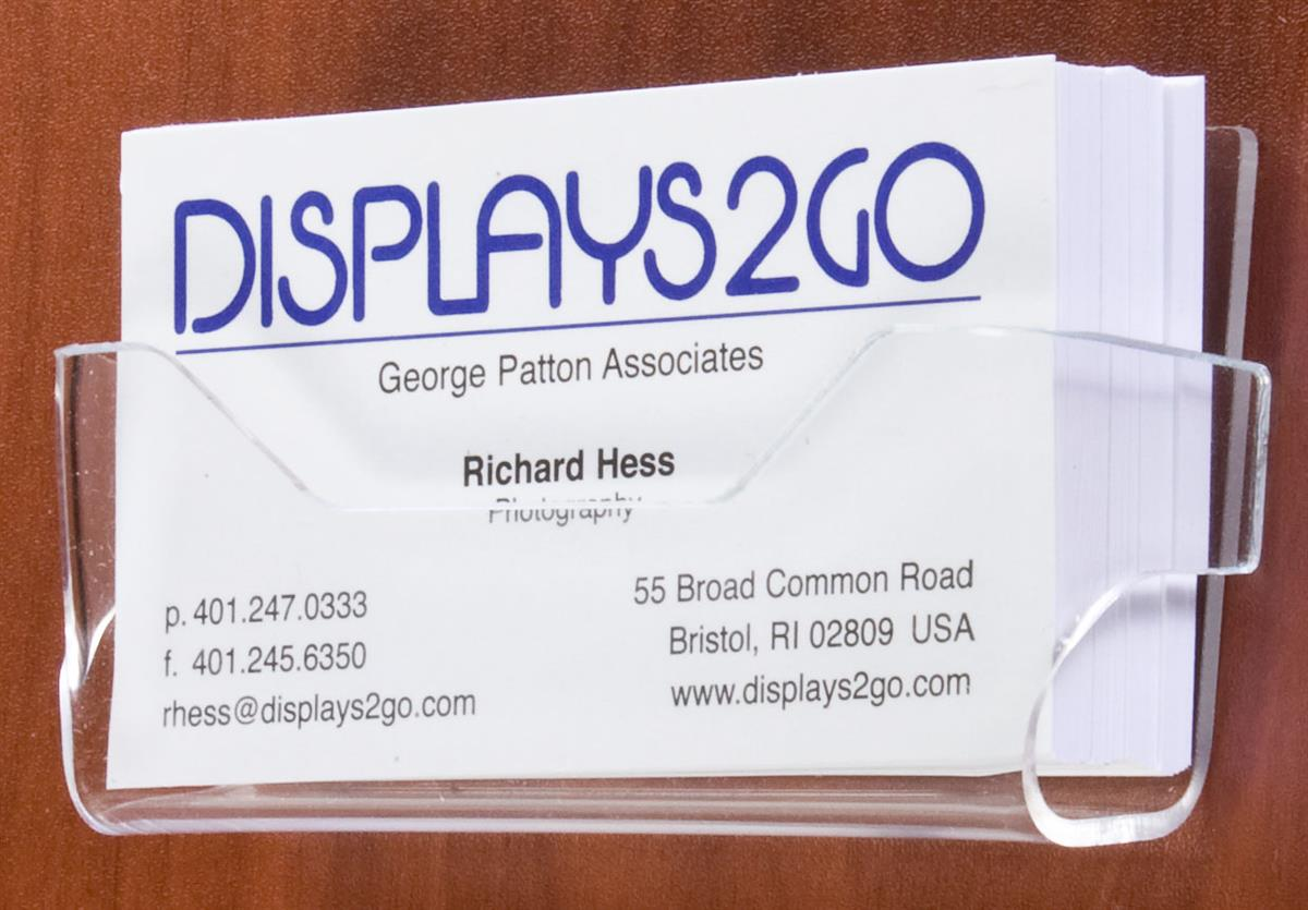 wall mounted business card holder clear acrylic. Black Bedroom Furniture Sets. Home Design Ideas