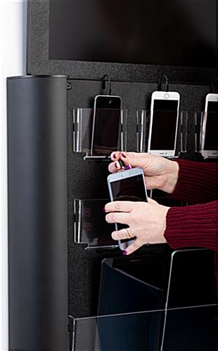 Space-saving wall mounted digital cell phone charging station