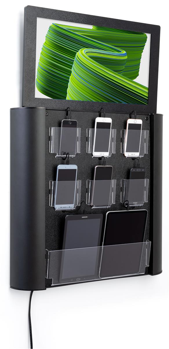 Wall Mounted Digital Cell Phone Charging Station 8gb Storage