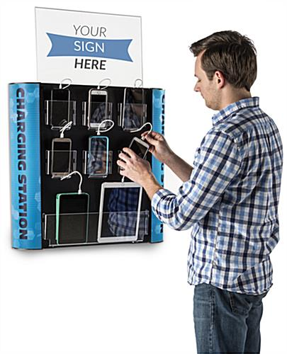 Public Charging Station with 7 Acrylic Pockets