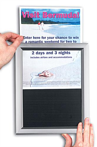 11 x 17 Poster Frame Displays Graphics Horizontally or Vertically