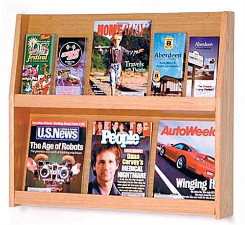2 shelf magazine rack with open design
