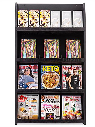 Indoor 4-tiered wall literature holder magazine rack