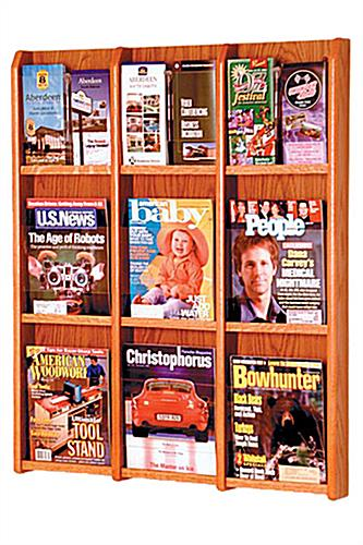 Wall hanging 9 magazine display by wooden mallet