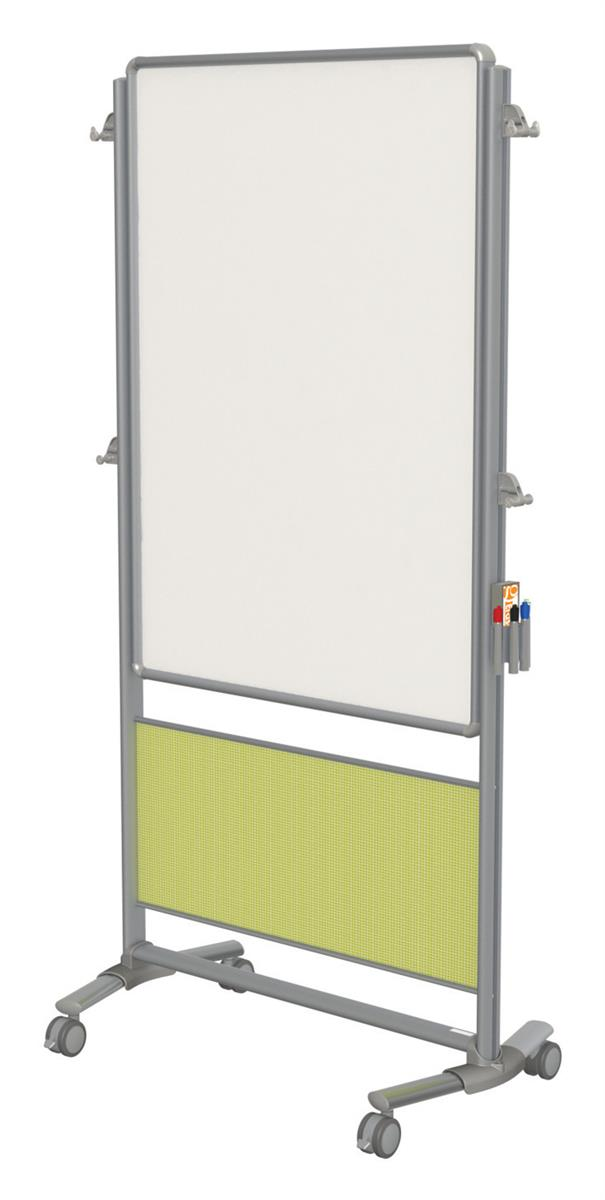 Double Sided Whiteboard W Emerald Wall Includes Rolling