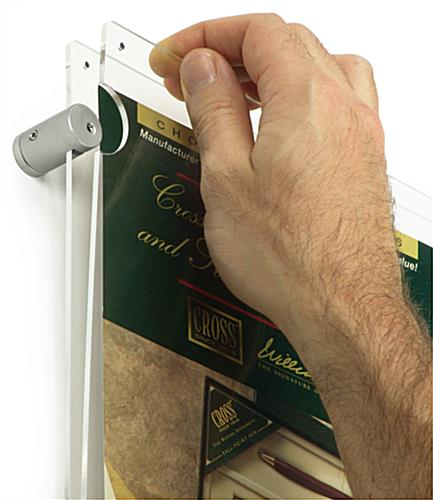 36 x 12 Panoramic Poster Frame - Edge Grip Standoffs