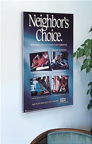 Wall Mount Plexiglass Poster Display For 36 X 48 Graphic