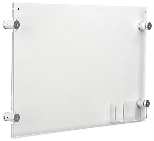 """... Wall Mounting 17"""" x 11"""" Sign Holder with Calling Card Pocket ... - 17"""" X 11"""" Sign Holder With Calling Card Pocket Wall Mounting"""