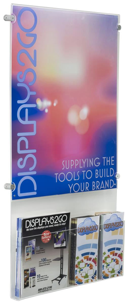 """18"""" x 24"""" Poster Display with Adjustable Literature Holder"""