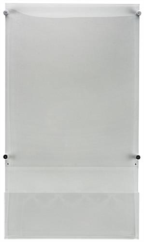 "Acrylic 22"" x 28"" Poster Holder with Adjustable Literature Pocket"