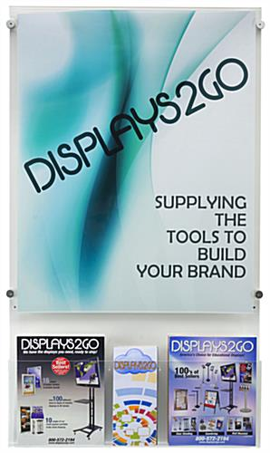 "22"" x 28"" Poster Holder with Adjustable Literature Pocket & Installation Hardware"