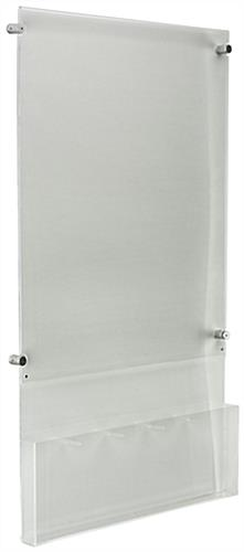 "Hanging 22"" x 28"" Poster Holder with Adjustable Literature Pocket"