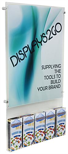 "All in One 22"" x 28"" Poster Holder with Adjustable Literature Pocket"