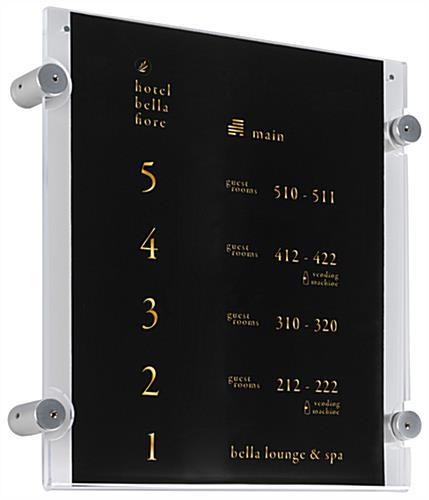 Letter Size Standoff Mounting Display 85x11 Wall Mount Frame
