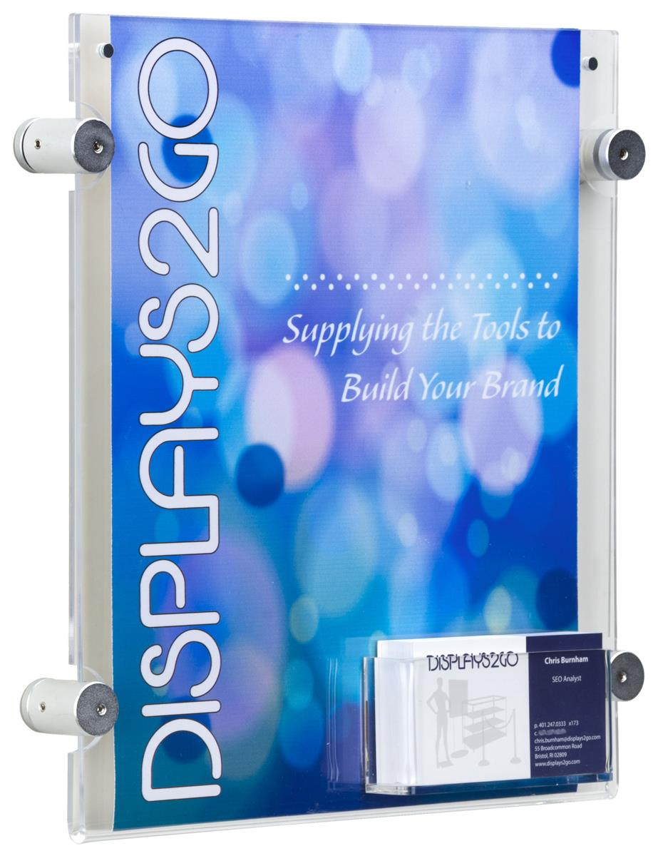 "8.5"" x 11"" Sign Frame with Business Card Pocket 