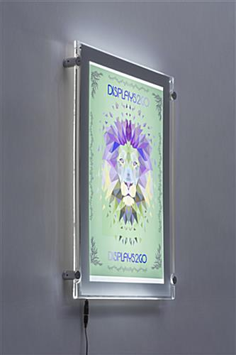 11 x 17 LED Edge-Lit Frame with Vertical Orientation