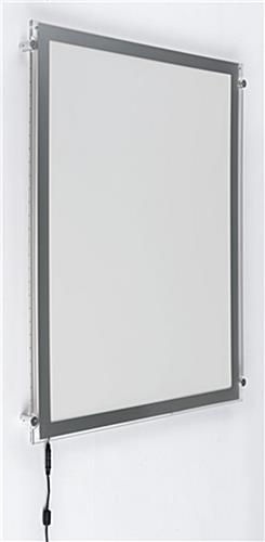 Super Slim Light Box with Silver Frame