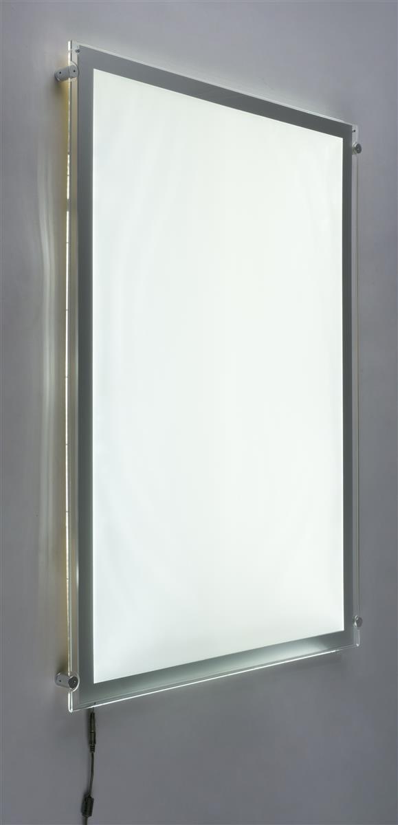 Acrylic Light Box Display : Lightweight light box display acrylic panel with silver