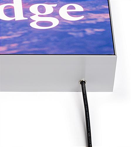 SEG LED wall display system with cord exit on base