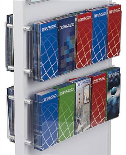 Brochure and Magazine Holder with Adjustable Pegs