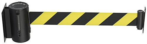 Yellow & Black Retractable Safety Barrier