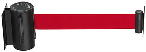 Red Band Wall Mounted Retractable Barrier