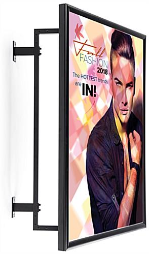 Swivel mount wall frame for large posters