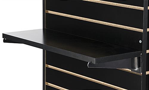22 25 Quot Black Slatwall Shelf Sold In Case Pack Of 4