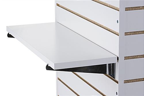 22 25 u201d slatwall shelf includes chrome brackets rh displays2go com metal shelves for slatwall metal shelves for slatwall