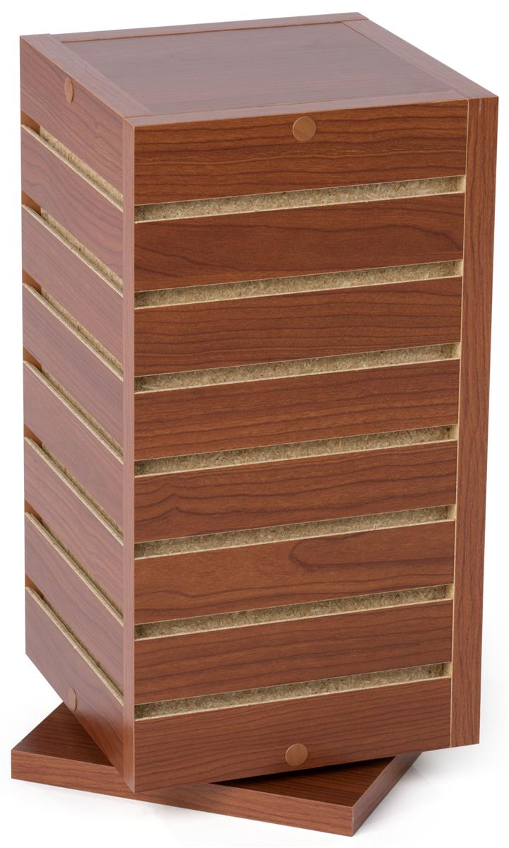 Slatwall Rotating Countertop Tower 9 Inch Cube In Cherry