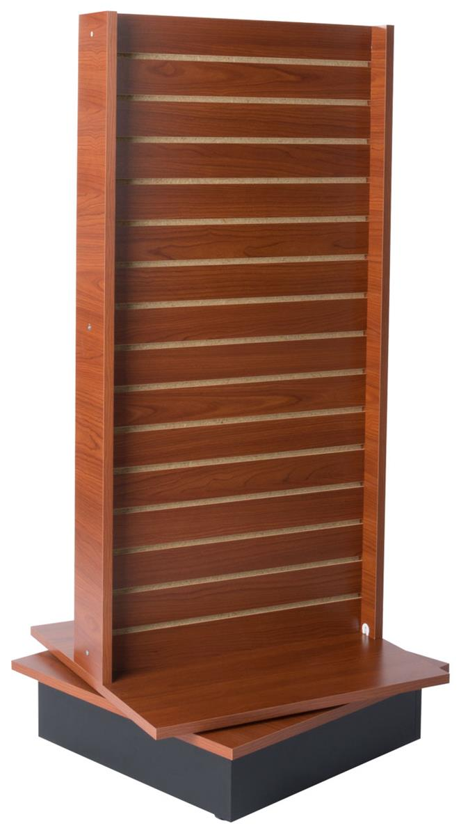 Freestanding Slatwall Double Sided With Rotating Base