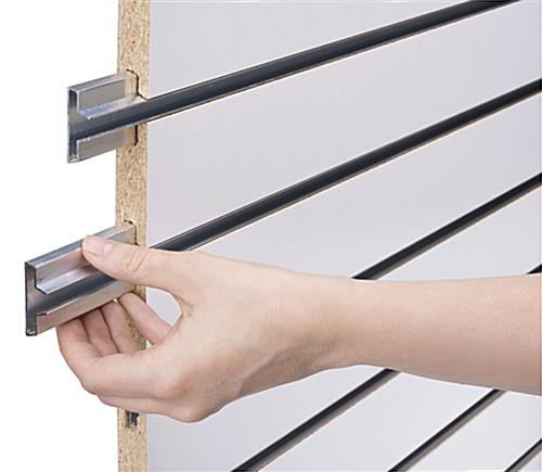 Slatwall Display Panel with Metal Channel Inserts