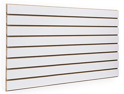 white slatwall panel with unfinished channels - Slat Wall