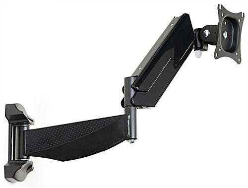 Swing-out monitor wall mount articulating arm