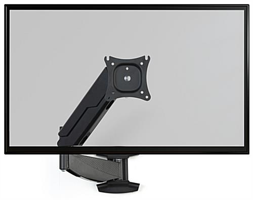 Monitor wall mount articulating arm with VESA mounting bracket
