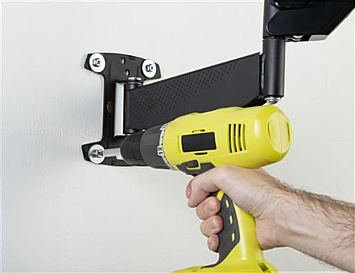 Monitor wall mount articulating arm with heavy duty plate