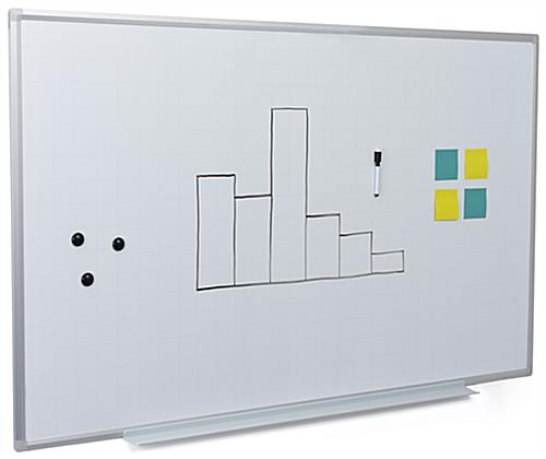 60 inch x 36 inch ghost grid magnetic whiteboard