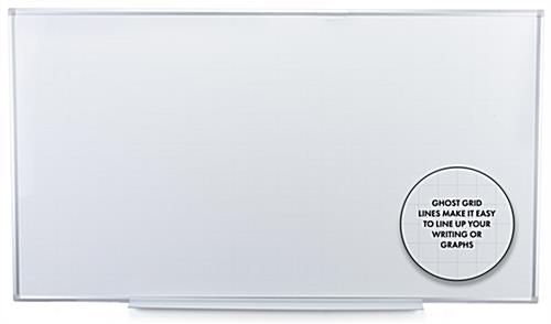 Wall mounted magnetic ghost grid dry erase board