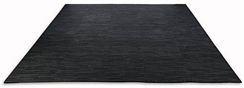 Black Wood Grain Floor Mats, w/ Detachable Borders