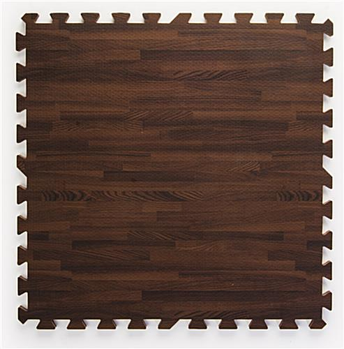 Cherry Wood Grain Floor Mats, w/ Jigsaw Pattern