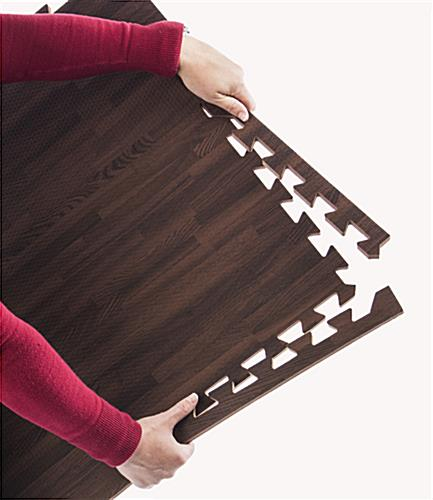 Cherry Wood Grain Floor Mats, Anti- Fatigue