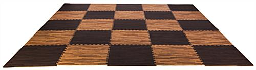 Cherry & Dark Oak Wood Grain Floor Mats, Anti- Fatigue