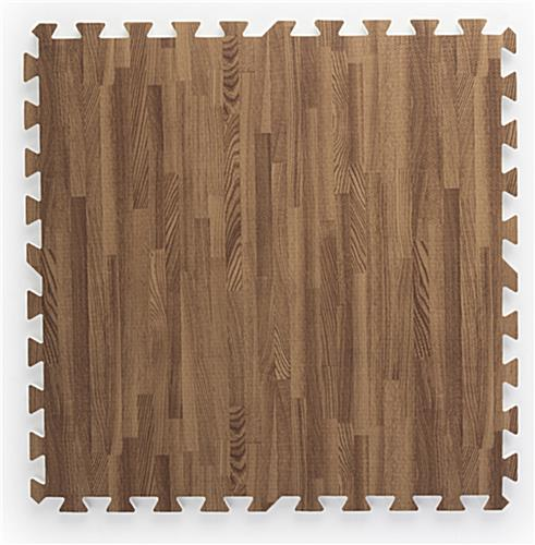Cherry & Dark Oak Wood Grain Floor Mats, Soft Foam Tiles