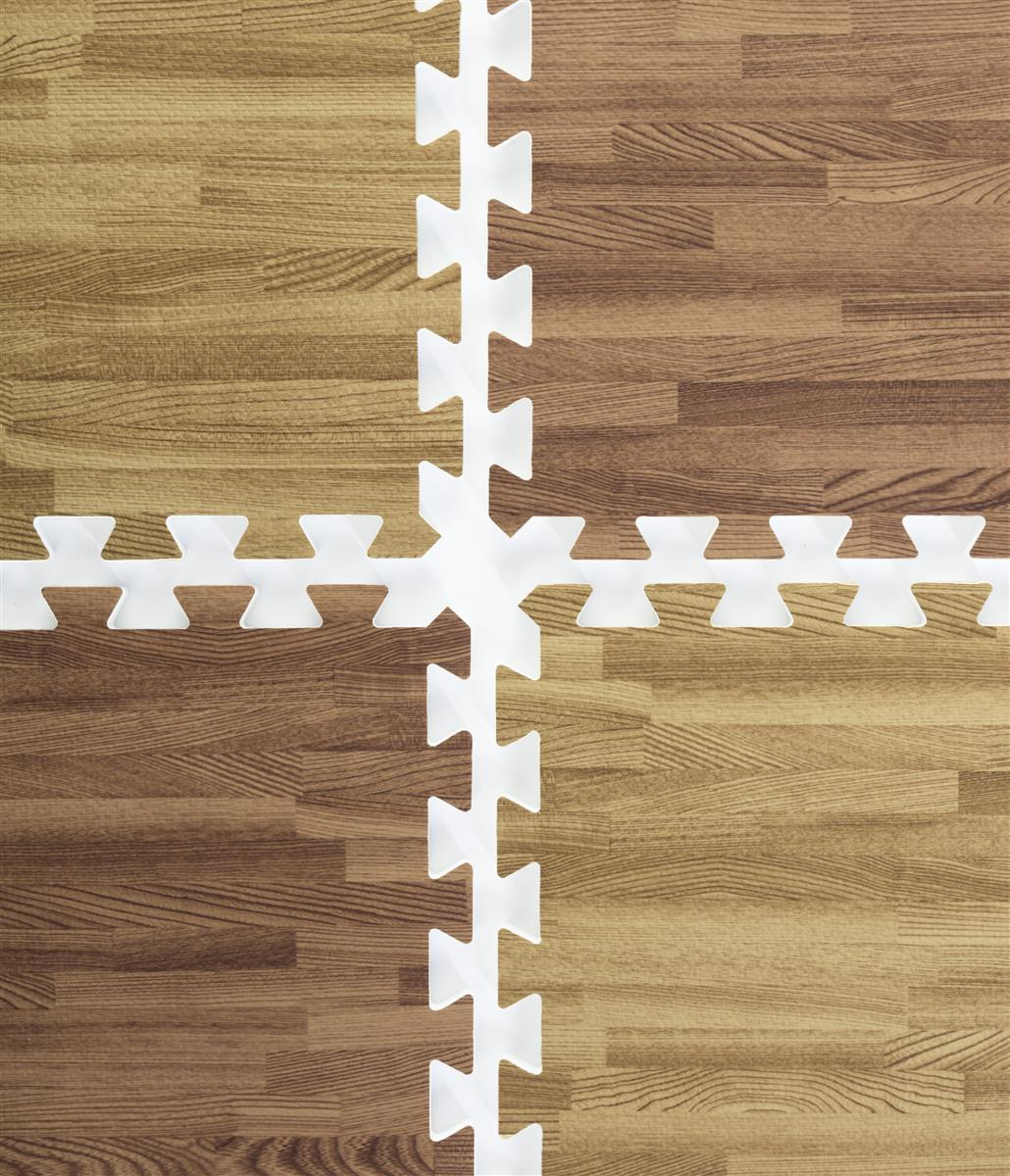 Dark Oak Amp Light Oak Wood Grain Floor Mats 26 2 X 2 Tiles
