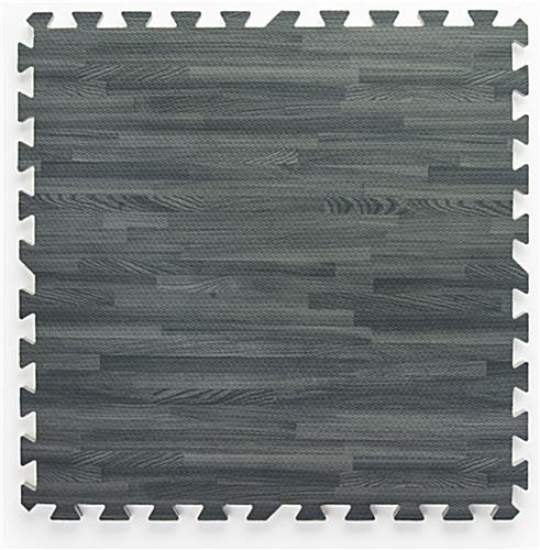 Gray Wood Grain Floor Mats, w/ Detachable Border