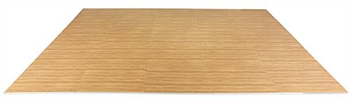 Light Oak Wood Grain Floor Mats w/ Detachable Border