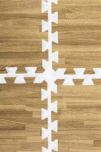 Light Oak Wood Grain Floor Mats, EVA Foam